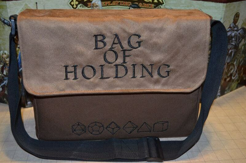 13 Best Bags for Dungeons and Dragons and RPGs - Best bag for RPG books - dungeons and dragons bag - rpg backpack - Messenger Bag of Holding Embroidered Canvas and Suede