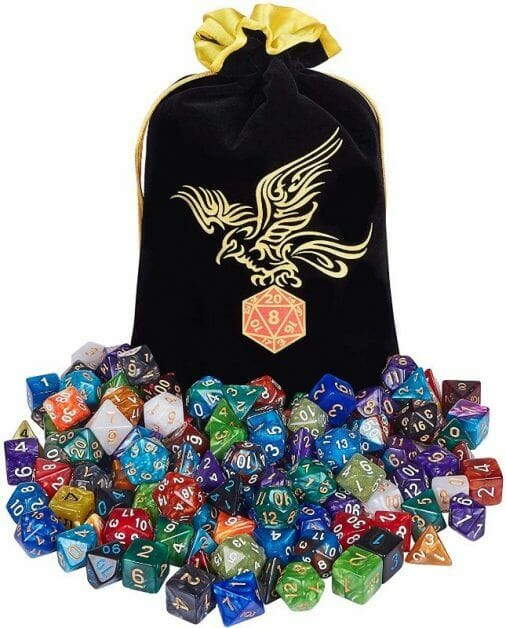 The Best D&D Dice Sets for Every Budget: 15 Cool Dice for RPGs - cool dnd dice - d20 dice for RPGs - best dice for D&D - dice for dungeons and dragons - package