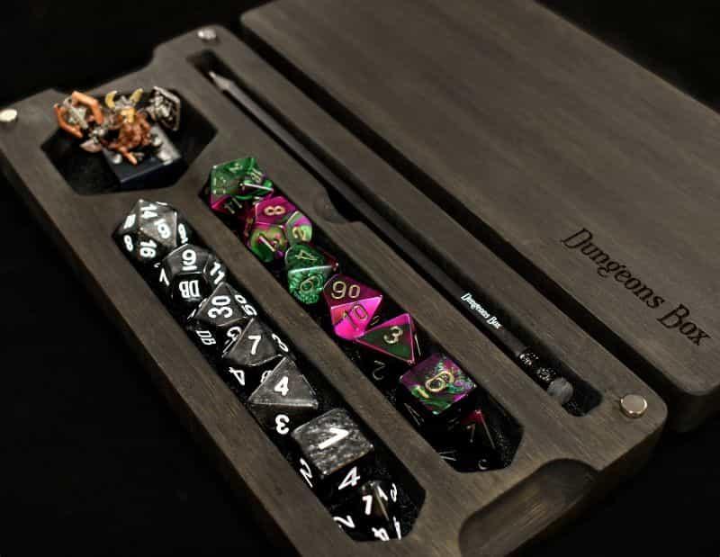 RPG Miniature Dice Box Vault and Case