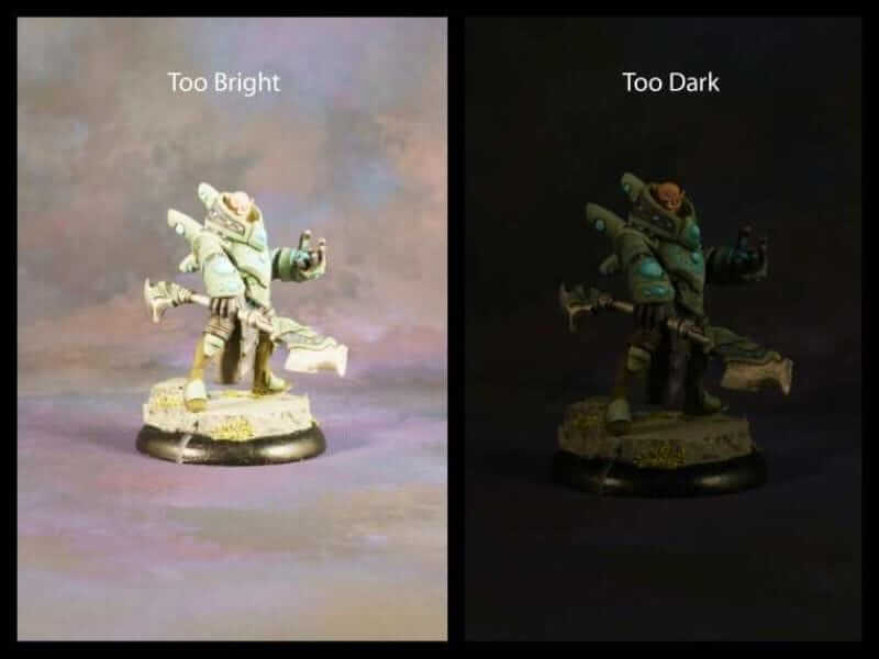 Best Lightbox for Miniature and Model Photography (Top 5 Reviewed and Tips) - too bright vs too dark