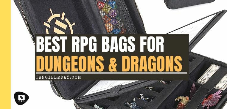13 Best Bags for Dungeons and Dragons and RPGs - Best bag for RPG books - dungeons and dragons bag - rpg backpack - banner