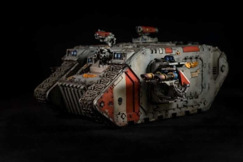 Best Lightbox for Miniature and Model Photography (Top 5 Reviewed and Tips) - land raider black background