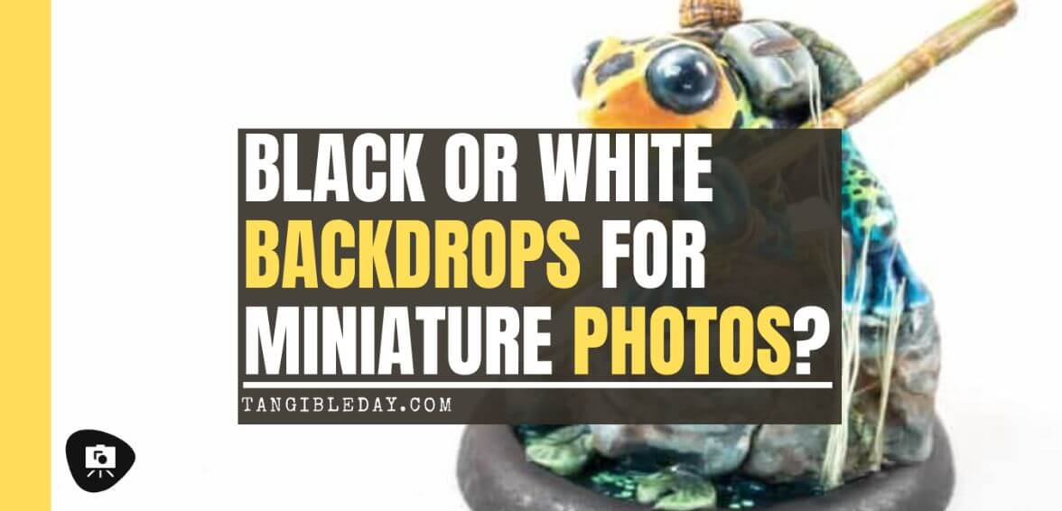 Black or White Backgrounds for Miniature Photos: What's Right For You? - black or white background for miniatures - miniature photo background - banner