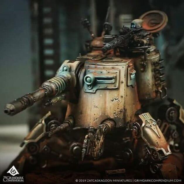 What is grimdark - grimdark definition - warhammer 40k grimdark painting - grimdark miniature painting - adeptus mechanicus