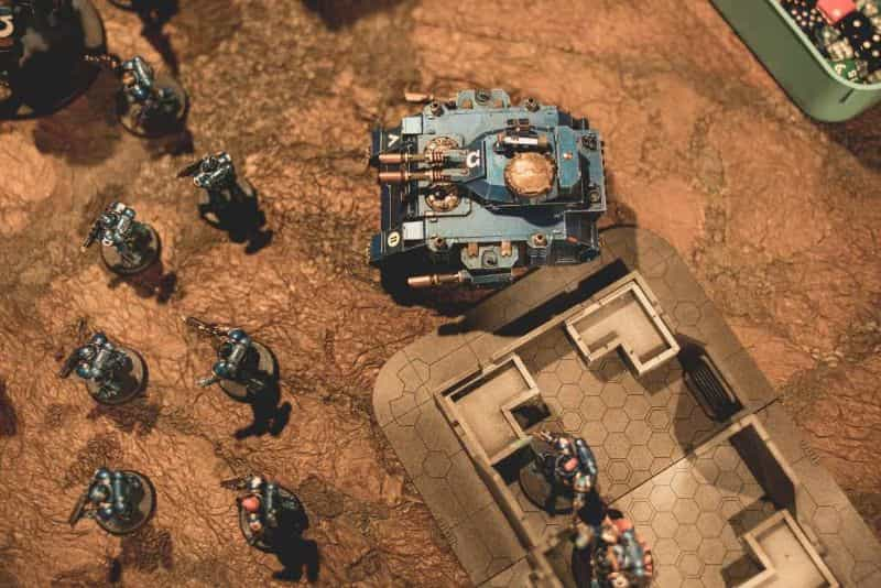 """5 Ways to Avoid Boring """"Hobby"""" Photography - how to be a better hobby photographer - photography for hobbyists - scale modeling photography - How to take better photos of miniatures - raise your perspective - top down ultramarine warhammer 40k"""