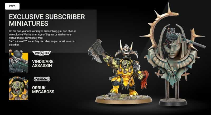 Warhammer+ Review - Is warhammer+ worth it? - Warhammer plus review - warhammer+ subscription service review - subscriber miniatures