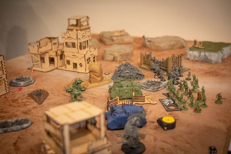 How Tabletop Miniature Gaming Can Help with PTSD - PTSD and tabletop games - wargames and PTSD - the benefits of tabletop games and boardgames for PTSD sufferers - warhammer 40k in progress