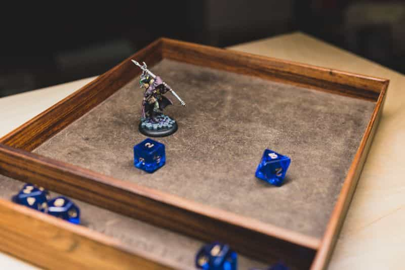 Best Dice Rolling Surface Materials for Quieter Dice Trays (Ideas) - best dice rolling material - dice tray material ideas - dampening materials for dice trays - dice on tray