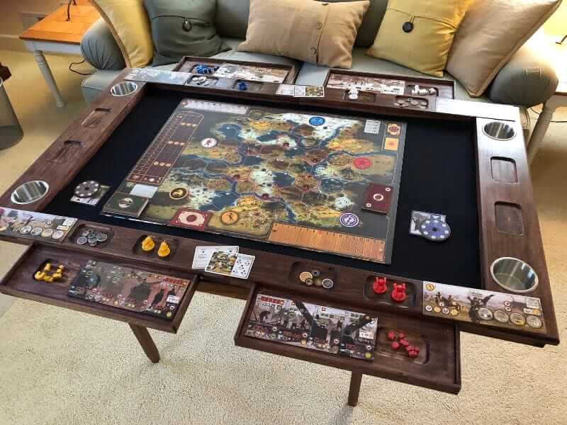 10 Great Wargaming Tables for RPGs and Tabletop Games - best game tables for RPGs - best wargaming table for warhammer - board game table