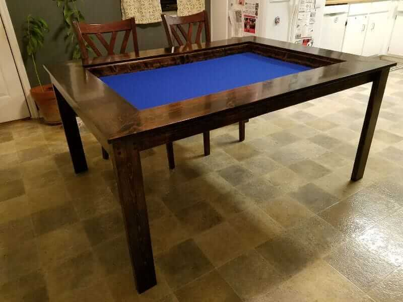 10 Great Wargaming Tables for RPGs and Tabletop Games - best game tables for RPGs - best wargaming table for warhammer - open gaming table blue surface