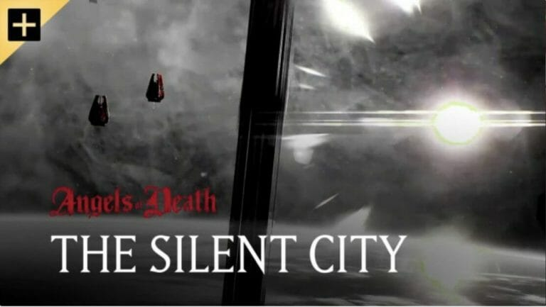 """Angels of Death Warhammer TV Review (Episode 2: """"The Silent City"""") - blood angel space marines - warhammer plus and warhammer TV - splash screen"""