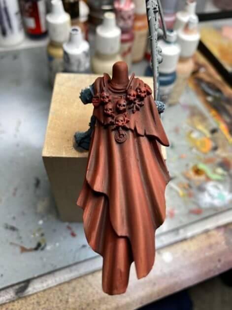 How to Paint Skulls and Bone on Miniatures (3 Easy Steps) - skull base coat