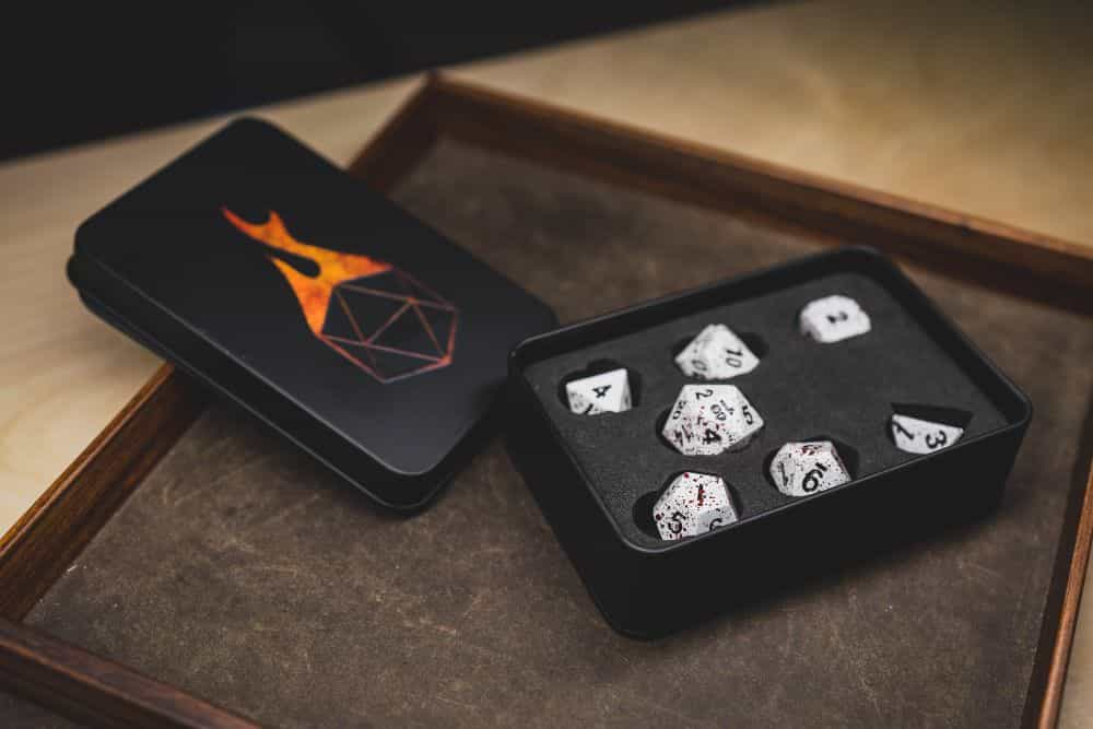Best Metal Dice Sets? Forged Gaming Dice Sets for DnD and RPGs (Review) - metal dice set review - travel case for dice
