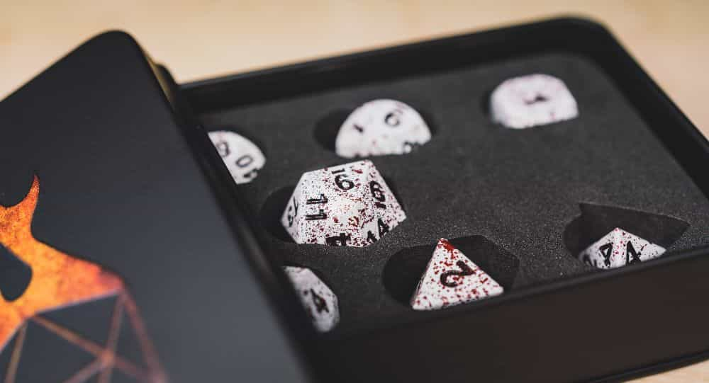 Best Metal Dice Sets? Forged Gaming Dice Sets for DnD and RPGs (Review) - metal dice set review - cozy dice set