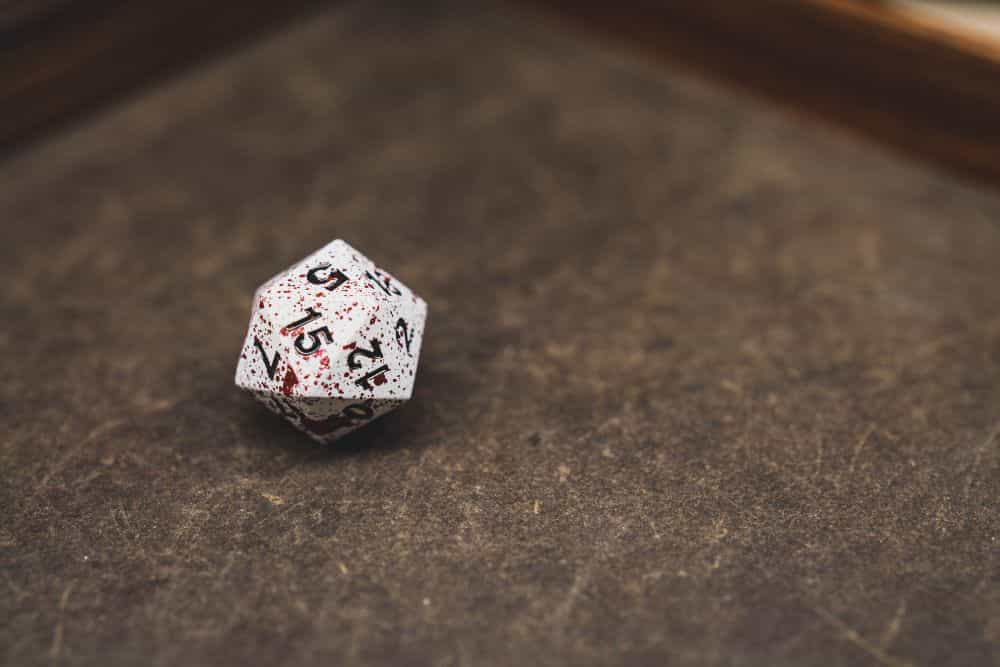 Best Metal Dice Sets? Forged Gaming Dice Sets for DnD and RPGs (Review) - metal dice set review - d20 close up