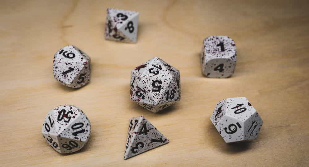 Best Metal Dice Sets? Forged Gaming Dice Sets for DnD and RPGs (Review) - metal dice set review - metal dice don't float